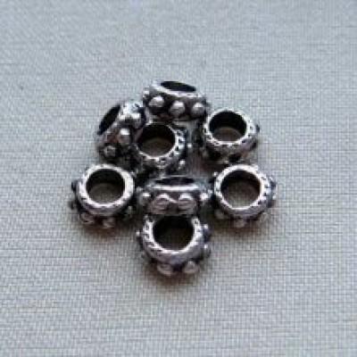 Бусина кольцо-коннектор малое 2 тибетское серебро(10 шт)