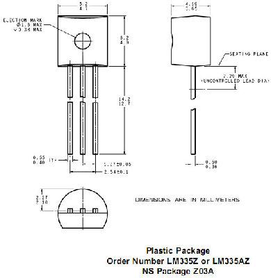 Lm335z как датчик температуры National Semiconductor