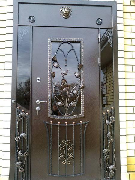 Как сделать входную дверь со стеклами